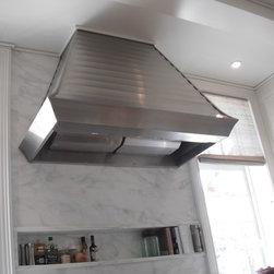 Stainless Steel Stove Hood - Custom Scalloped Stainless Steel Kitchen Hood