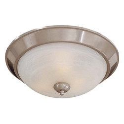 """Minka Lavery - Minka Lavery ML 893-PL 3 Light 15"""" Width Fluorescent Flush Mount Ceiling Fixture - Three Light 15"""" Width Fluorescent Flush Mount Ceiling Fixture with Etched Marble ShadeFeatures:"""