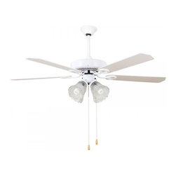 "Hampton Bay 52"" White Ceiling Fans - Feel the cooling breeze from this handsome Hampton Bay 52"" White Ceiling Fans. Features a dark bronze,brass or copper finish motor matched with shaded metal or wood blades. A wonderful traditional look that will enhance your home's decor."