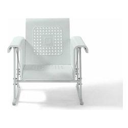 Crosley - Veranda Single Glider Chair - Dimensions:  Height 33.25  Width 30.75  Length 33
