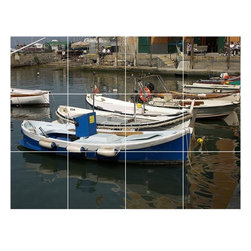 Picture-Tiles, LLC - Boat Ship Photo Wall Back Splash Tile Mural  18 x 24 - * Boat Ship Photo Wall Back Splash Tile Mural 1254