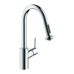 Hansgrohe - Hansgrohe 4310001 Talis S 2 Kitchen Faucet LowFlow in Chrome - Kitchen Faucet LowFlow in Chrome belongs to Kitchen Collection by Hansgrohe Founded in Germany's Black Forest in 1901, Hansgrohe is committed to building a strong sense of tradition. Hansgrohe's products offer a lifetime of satisfaction featuring the ultimate in quality, design and performance. Customers appreciate our many breakthroughs in comfort and technology that allow you to make the most of water. With its wide range of products, Hansgrohe has the right solution for you. Enjoy every moment, each one is unique, just like your Hansgrohe shower. Hansgrohe has always had a sharp eye for innovation, designing products with exceptional durability that are not only highly functional but also a source of pleasure. For us, this means constantly advancing and striving for improvements. Our showers and faucets offer many useful functions and details that make daily use as easy and comfortable as possible so that you can enjoy your Hansgrohe products for many years to come.  Faucet (1)