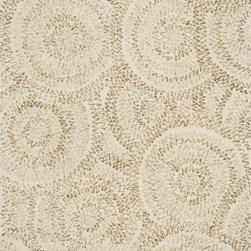 "Loloi Rugs - Loloi Rugs Diada Collection - Ivory, 3'-6"" x 5'-6"" - The Diada Collection showcases six overall geometric patterns that tango between transitional and contemporary styling. Hand-tufted of 100% wool with loop accents, these textured designs come in mocha, gray, seaweed, smoke, camel, and ivory."