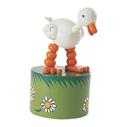 """The Original Toy Company - The Original Toy Company Kids Children Play Duck Thumb Puppet - Our """"Exclusive"""" beautifully painted. Wooden thumb puppets provide a vast. Number of amusing actions and hours of Memorable play value for one and all. Average height- 4.5"""". Ages 3 plus years to Adult"""