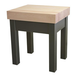 "Chelsea Home - Guy Prep Table with Butcher Block Top - The Guy Butcher Block will withstand even the biggest chopping jobs, as it's built to last a lifetime! It features a 5 inch thick maple top and a 2 tier knife drawer to keep all of your kitchen tools within reach. Features: -Material: Mortise and tenon solid wood. -2 Tiers knife block drawer and a work area accessible from all sides. -Made in the USA. Dimensions: -34"" H x 31"" W x 25"" D, 160 lbs."