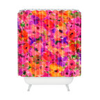 DENY Designs - Amy Sia Fleur Rouge Shower Curtain - Like falling into a painting by Monet, you'll fall for the grandiflora scale of these overlapping, watery blooms in pinks, reds and purples. It's custom printed on woven polyester and machine washable.