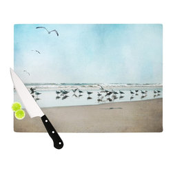 """Kess InHouse - Sylvia Cook """"Sea Blue"""" Coastal Cutting Board (11.5"""" x 15.75"""") - These sturdy tempered glass cutting boards will make everything you chop look like a Dutch painting. Perfect the art of cooking with your KESS InHouse unique art cutting board. Go for patterns or painted, either way this non-skid, dishwasher safe cutting board is perfect for preparing any artistic dinner or serving. Cut, chop, serve or frame, all of these unique cutting boards are gorgeous."""