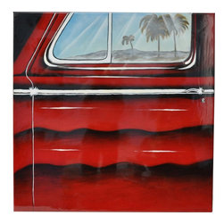 Crestview Collection - Crestview Collection Coronado Stop Hand-Painted Stretched Canvas Wall Art X-5221 - Crestview Collection Coronado Stop Hand-Painted Stretched Canvas Wall Art X-5221POTVC