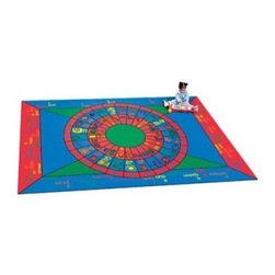 Joy Carpets Play on Words Kids Area Rug - Kids will love the cheerful and educational Play on Words Carpet. Its bright primary colors are perfect for any child's room and its focus on phonics the alphabet upper and lower case and numbers make learning fun.Sizes available:5 feet 4 inches x 7 feet 8 inches7 feet 8 inches x 10 feet 9 inches.This carpet features SoftFlex backing which is an air-texturized polypropylene secondary backing that's designed to withstand the most demanding situations. SoftFlex is woven tightly yet is still extremely flexible which helps eliminate wrinkles and provide superior protection and insulation underfoot.JoyTuff carpets are Stainmaster-protected and ideal for home or office use. They are constructed from Stainmaster BCF Type 6 6 two-ply nylon and feature advanced protection against stain and soil as well as Impervion mold and mildew protection. This carpet is bound and serged for maximum durability and features a SoftFlex back plus a Class I Flammability rating. To maintain simply vacuum regularly and use hot water extraction cleaning as required.This carpet includes the following warranties:Lifetime limited wear warrantyLifetime limited antimicrobial protectionLifetime limited static protection10-year limited dual technology soil and stain protectionDedicated to Environmental StewardshipJoy Carpets understands the importance of environmental stewardship and its relationship to a successful business. We are committed to operating our facilities in an environmentally sustainable manner and in a manner that protects the health and safety of our associates and the public.Our environmental commitment is driven by a holistic approach to sustainable operations not simply focusing on recycling alone. Joy Carpets reaches beyond recycling in an effort to reduce our company's environmental footprint. Our vision and progress to achieving the goal of full sustainability focuses on the following:Environmentally friendly productsReview of our products' supply chainExtending product life cycleUse of recycled packagingReducing waste to landfillReducing energy consumption and water usageUse of alternative energy sources'No carpet to landfill' commitmentRecycling carpet into new productsDonating carpet for charitable re-useAdditionally Joy Carpets is committed to establishing a strong foundation of environmental values with our families associates and communities to ensure the long-term conservation of our earth's natural resources.About Joy CarpetsJoy Carpets is the leader in specialty broadloom modular carpet Carpets and mats in creative and eye-catching designs. Joy takes pride in providing first-rate floor coverings for residential educational hospitality healthcare and commercial markets. The pioneer of fine gauge tufting Joy Carpets introduced the first recreational carpeting to the industry in 1973 and since that time has been known for their commitment to cutting edge technology and design. Joy Carpets are proudly made in the United States and sold worldwide. Choose Joy Carpets for superior service and unique fun products that enhance your decor and give you fantastic flooring in an instant.
