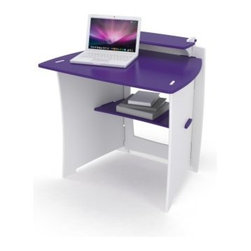 Legare Kids 34 in.Desk with Shelf - Purple and White - A great spot to concentrate on homework, the Legare Kids 34 in. Multi Pack Desk with Shelf - Purple and White is so easy to assemble, you'll have it built before she finishes her times tables. Plus, it's super durable and ready for years of use. Crafted of Moso Bamboo sourced only from FSC-certified mills, this desk assembles easily in minutes. It features a patented locking design system so there are no screws to use or holes to line up, and you can assemble and reassemble as many times as you like without putting any extra wear and tear on the furniture.About Legare Furniture Based in Fort Worth, Texas, Legare Furniture is a design and manufacturing firm that produces contemporary, unique and easy-to-assemble furniture for the home and small office. Founded in 1999, the company's designs are an evolution of Legare's original signature modular design, continually improved with innovative materials and finishes to enhance the chic style and convenient functionality that marks Legare's furniture as distinct.
