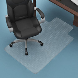 Z-Line Designs - 35.7'' Chairmat - Sit comfortably and securely with this convenient mat that protects carpets and offers easy range of motion.   48.5'' W x 35.75'' H x 0.1'' D PVC Assembly required Imported