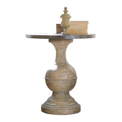 """Hooker Furniture - Hooker Furniture Round Accent Table - This statuesque table adds style to any room. Gmelina Solids, Brass, Resin. Dimensions: 26""""W x 26""""D x 28.5""""H."""