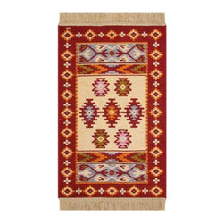 Reversible Authentic Kilim Rug / Size 2x3 - Rug of Ages Collection (Stars) - Brand: Rugs of Ages
