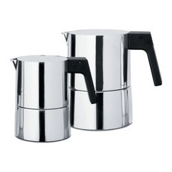 Alessi Coffee and Tea - Alessi Coffee and Tea Pina Espresso Coffee Maker - Espresso coffee maker in aluminum casting. Handle in bakelite. Manufactured by Alessi.Designed in 2006.