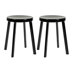 Safavieh - Safavieh Indus Black Stools (Set of 2) - This set of Indus stools is inspired by timeless design and is a welcomed addition to any decor. Made from durable steel,the scratch and mar resistant black powder coat finish will make this a great dining stool or an accent piece in any room.