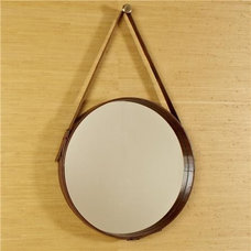 Traditional Mirrors Round Cowhide Mirror