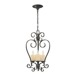 World Imports - Stafford Spring 3-Light Glassless Lantern, Dark Antique Bronze - Styled for the look of old-world charm with a dark, antique bronze finish