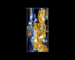 Yellow and Gray abstract painting, vertical wall art ELYSIAN FALLS - Original Painting, custom painting made to order OR prints available in many medias and sizes.