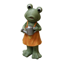 Alpine - Frog Girl in Dress Statue - 9 inch - Features:Dimensions: