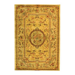 """Safavieh - Bergama Yellow/Brown Area Rug BRG168A - 2'3"""" x 12' - The Bergama Collection includes beautiful reproductions which are hand-tufted to create the same symmetrical knots used in the antique rugs in Safavieh's private archival collection of Peshawar rugs. Made in India, the pure wool rugs in this collection recreate the design and quality of Peshawars made for the top end of the market to a broader base of customers with superior hand tufted quality."""