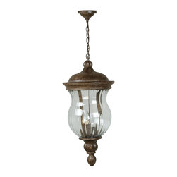 Craftmade - Craftmade Europa Traditional Outdoor Hanging Light X-09-1104Z - A rugged cast aluminum supports a beautiful ribbed glass bowl to make an unusual lighting statement.
