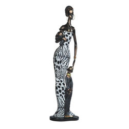 GSC - 22.5 Inch African Lady with Children Figurine - This gorgeous 22.5 Inch African Lady with Children Figurine has the finest details and highest quality you will find anywhere! 22.5 Inch African Lady with Children Figurine is truly remarkable.