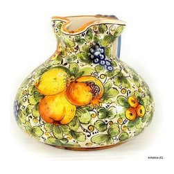 Artistica - Hand Made in Italy - Tuscania: Medium Shaped Pitcher - Tuscania Collection: