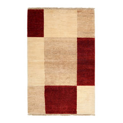 """Darya Rugs - Darya Rugs Modern, Red, 3'1"""" x 4'9"""" M1618-70 - Darya Rugs Modern collection represents a minimalistic, timeless statement that complements transitional, contemporary, and traditional interiors. All rugs were hand-knotted by skilled artisans and weavers."""