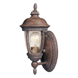 Maxim Lighting - Maxim Lighting Knob Hill VX Traditional Outdoor Wall Sconce X-ESDC26404 - Transport yourself to olden times of restful ease and comfort with this traditional wall sconce. The Sienna finish and intricate antique styling make this a tantalizing ornament on your porch or in your garden. The seedy shade provides the romantic glow you've been looking for.