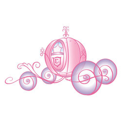 York Wallcoverings - Disney Princess Cinderella Carriage Self Stick Wall Accent - Features: