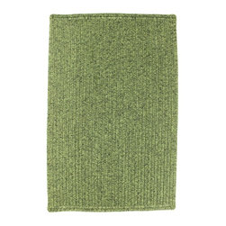 Homespice - Homespice Silvan Braided Rectangle Rug - Vibrant shades of medium and dark green add a touch of brightness. There is no need to compromise beauty for durability. Our Ultra Durable indoor/outdoor rugs are amazing. They resist stains from food, pets, and liquids, while adding color, texture and interest to all your living spaces. This amazing absorbent material leaves the surface below dry with most moderate spills. To clean, simply run under water in your sink or use a hose. These Ultra Durables are thinner and flatter and feature a vertical braid with anti-skid backing. Perfect for kitchens, baths, and entry ways.