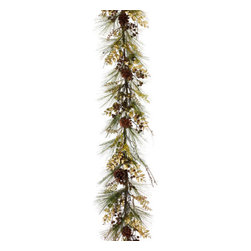 """Silk Plants Direct - Silk Plants Direct Pine Cone, Bird Nest, Birdcage and Pine Garland (Pack of 2)"""" - Silk Plants Direct specializes in manufacturing, design and supply of the most life-like, premium quality artificial plants, trees, flowers, arrangements, topiaries and containers for home, office and commercial use. Our Pine Cone, Bird Nest, Birdcage and Pine Garland includes the following:"""