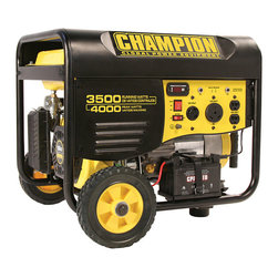 Champion - Champion 3500 Watt Portable Generator - Prepare for a power outage with this Champion 3500-watt generator. This recreational portable generator produces enough power to run the most essential items in your home or business. It is made with a durable steel frame and comes with a manual.