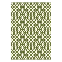 "Dynamic Rugs - Contemporary Trend 5'3""x7'7"" Rectangle Green Area Rug - The Trend area rug Collection offers an affordable assortment of Contemporary stylings. Trend features a blend of natural Light Gray color. Machine Made of 100% Viscose the Trend Collection is an intriguing compliment to any decor."
