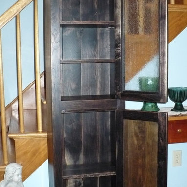 Distressed Walnut Jelly Cabinet - Distressed Walnut Jelly Cabinet with mortise and tenon joinery, oil and wax finish