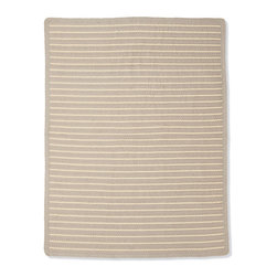 Frontgate - Avoca Braided Outdoor Area Rug - Double-braided. 100% fine-spun polypropylene. Resistant to outdoor elements. Appropriately named for the Irish town famous for hand weaving, our Avoca Braided Outdoor Area Rug is finely detailed, exceptionally durable, and the perfect neutral floor covering. Extra thick and reversible, this camel-colored rug is proven to stand up well to high-traffic areas with strength and endurance.  .  .  . Made in the USA.