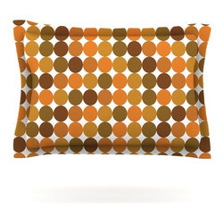 "Kess InHouse - KESS Original ""Noblefur Orange Harvest"" Pillow Sham (Woven, 40"" x 20"") - Pairing your already chic duvet cover with playful pillow shams is the perfect way to tie your bedroom together. There are endless possibilities to feed your artistic palette with these imaginative pillow shams. It will looks so elegant you won't want ruin the masterpiece you have created when you go to bed. Not only are these pillow shams nice to look at they are also made from a high quality cotton blend. They are so soft that they will elevate your sleep up to level that is beyond Cloud 9. We always print our goods with the highest quality printing process in order to maintain the integrity of the art that you are adeptly displaying. This means that you won't have to worry about your art fading or your sham loosing it's freshness."