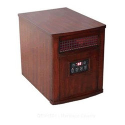 "WORLD MARKETING - INFRARED HEATER CHY - Portable comfort furnace with remote.  Utilizes quartz and resistance heater technology.  Includes high-volume cage type blower, built-in casters, programmable timer, cool down cycle, digital room temperature and function display, multi-function hand held   remote.        16.9"" H x 13.0"" W x 18.9"" D  Finish=Heritage Cherry  This item cannot be shipped to APO/FPO addresses.  Please accept our apologies"