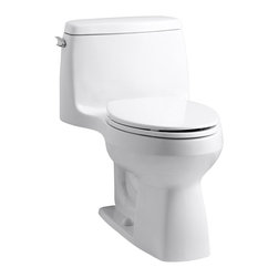 KOHLER - KOHLER K-3810-0 Santa Rosa Comfort Height One-Piece Compact Elongated 1.28 GPF T - KOHLER K-3810-0 Santa Rosa Comfort Height One-Piece Compact Elongated 1.28 GPF Toilet with Class Five Flush System in White
