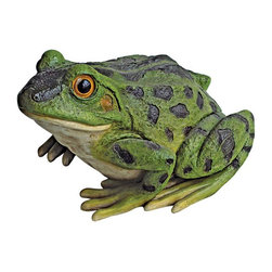 EttansPalace - Frog Garden Toad Statue - From The Acorn Hollow Garden Statuary Collection; Add playful ambiance to your garden or pond with this delightful, garden frog statue. Even if you cant hear him croak, Rabbit the frog sculpture is large enough to spot from a distance! Cast in quality designer resin to capture details including his brightly bulging eyes, then hand-painted in garden-bright hues, our toad statue is an easy garden and pond focal point. Another quality amphibian statue from.