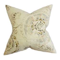 "The Pillow Collection - Riah Floral Pillow Brown 18"" x 18"" - Enhance the look of your home with this rustic throw pillow. A beautiful floral pattern in muted shades of pink, blue, brown and natural is highlighted in this square pillow. Combine this decor pillow with solids and other patterns for a well-coordinated look. Made with 100% soft and high-quality linen fabric. Hidden zipper closure for easy cover removal.  Knife edge finish on all four sides.  Reversible pillow with the same fabric on the back side.  Spot cleaning suggested."