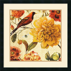 Amanti Art - Rainbow Garden Spice II Framed Print by Lisa Audit - Decorate with springtime year round with this garden floral piece by Lisa Audit.