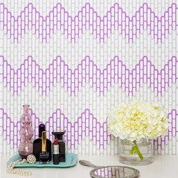 """Kimberly Lewis - SAMPLE Sierra Wallpaper in Aubergine - Kimberly Lewis - WALLPAPER SAMPLES are approximately 8"""" x 11"""""""