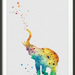 KidsPlayHome - Magic Singing Elephant Wall Art - Playroom Art Print