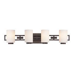 Designer Fountain - Del Ray 4-Light Bath Bar - 4-Light Bath Bar