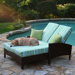 Anacara Atlantis All-Weather Wicker Adjustable Double Chaise Lounge - The Atlantis collection has been a favorite among our customers for over 3 years. We're excited to expand this popular collection, giving our customers easy ways to add to their existing patio furniture or give their patio a fresh look. Perfect beside the pool, on the deck, or anywhere in the sun, the Anacara Atlantis All-Weather Wicker Adjustable Double Chaise Lounge will bring exotic style and versatility to your outdoor setting. This durable piece features an aluminum frame wrapped in all-weather resin wicker with a dark, bold espresso finish. It is designed to withstand even the harshest conditions. The chaise can adjust to precisely the right angle, and raised borders on each side make perfect armrests. This lounge also has aesthetically pleasing curves on the underside and comes complete with seat and back cushions. Dimensions: 83L x 53W x 42H inches. Choose from three grades of fabric. Grade A is an outdoor fabric with a printed color or pattern. Grades B and C are solution-dyed fabrics. All three are designed for outdoor use; however, Grade B and C fabrics differ only slightly in their manufacturing process, and are more fade-resistant. Solution-dying refers to the color being soaked into each thread. Printed fabrics have the color on the top side of the fabric only. We recommend Grade B and C fabrics for extremely sunny regions or patios that are in direct sunlight. Grade A fabrics are amazing quality fabrics, but will fade quicker than Grade B and C fabrics when used in direct sunlight. Grade A fabrics have a 1-year fade warranty and Grade B and C fabrics have a 2-year fade warranty. Important NoticeThis item is custom-made to order, which means production begins immediately upon receipt of each order. Because of this, cancellations must be made via telephone to 1-800-351-5699 within 24 hours of order placement. Emails are not currently acceptable forms of cancellation. Thank you for your consideration in this matter.