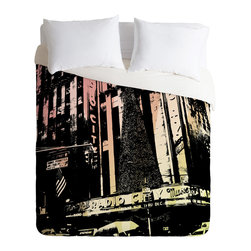 DENY Designs - DENY Designs Amy Smith Radio City Music Hall Duvet Cover - Lightweight - Turn your basic, boring down comforter into the super stylish focal point of your bedroom. Our Lightweight Duvet is made from an ultra soft, lightweight woven polyester, ivory-colored top with a 100% polyester, ivory-colored bottom. They include a hidden zipper with interior corner ties to secure your comforter. It is comfy, fade-resistant, machine washable and custom printed for each and every customer. If you're looking for a heavier duvet option, be sure to check out our Luxe Duvets!