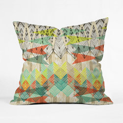 Straight as an Arrow Pillow Cover - This arrow-dynamic pillow cover shoots color every which way. Pair it with a neutral bedspread for maximum effect.