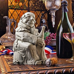 Design Toscano Dom the Monk Inventor of the Champagne Statue - About Design Toscano:Design Toscano is the country's premier source for statues and other historical and antique replicas, which are available through the company's catalog and website. Design Toscano's founders, Michael and Marilyn Stopka, created Design Toscano in 1990. While on a trip to Paris, the Stopkas first saw the marvelous carvings of gargoyles and water spouts at the Notre Dame Cathedral. Inspired by the beauty and mystery of these pieces, they decided to introduce the world of medieval gargoyles to America in 1993. On a later trip to Albi, France, the Stopkas had the pleasure of being exposed to the world of Jacquard tapestries that they added quickly to the growing catalog. Since then, the company's product line has grown to include Egyptian, Medieval and other period pieces that are now among the current favorites of Design Toscano customers, along with an extensive collection of garden fountains, statuary, authentic canvas replicas of oil painting masterpieces, and other antique art reproductions. At Design Toscano, attention to detail is important. Travel directly to the source for all historical replicas ensures brilliant design.