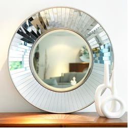 New Mirrors Atrium Mirror - This fabulous mirror is a bit regency and a bit Studio 54. You can decide which way you want to go with the rest of your room!